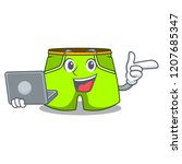 with laptop character style...   Shutterstock .eps vector #1207685347