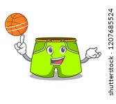 with basketball character style ...   Shutterstock .eps vector #1207685524