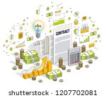 contract sheet paper legal... | Shutterstock .eps vector #1207702081