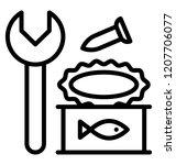 scrap old metal waste | Shutterstock .eps vector #1207706077