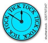 a blue and black modern tick... | Shutterstock . vector #1207707247