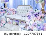 a raised stage in malay wedding ...   Shutterstock . vector #1207707961