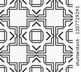 art deco black and white...   Shutterstock .eps vector #1207729291