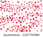red flying hearts bright love... | Shutterstock .eps vector #1207734484
