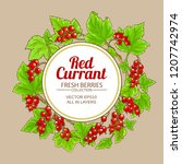 red currant frame | Shutterstock .eps vector #1207742974