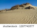 landscape with sand hills in...   Shutterstock . vector #1207743577
