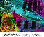 beautiful artwork colorful... | Shutterstock . vector #1207747591
