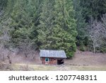 abandoned house in the... | Shutterstock . vector #1207748311