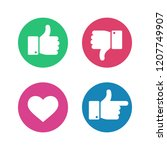 thumbs up down sign. point... | Shutterstock .eps vector #1207749907