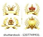realistic heraldic emblems.... | Shutterstock .eps vector #1207749931