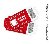 tickets isolated on white... | Shutterstock .eps vector #1207753567