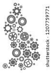map of liechtenstein designed... | Shutterstock .eps vector #1207759771