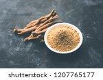 ashwagandha   aswaganda or... | Shutterstock . vector #1207765177