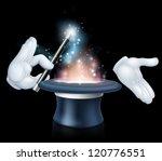 magician's hands holding a... | Shutterstock .eps vector #120776551