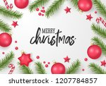 christmas greeting card design... | Shutterstock .eps vector #1207784857