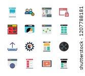 website icon set. vector set...   Shutterstock .eps vector #1207788181