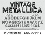 vintage font handcrafted vector ... | Shutterstock .eps vector #1207804441