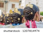 Falleras Hair Style  Earrings...