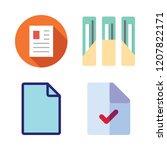 bureaucracy icon set. vector... | Shutterstock .eps vector #1207822171