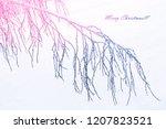 Blur. Frozen Winter Forest Wit...
