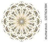 round pattern flower mandala....   Shutterstock .eps vector #1207826584