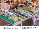 nice  france   october 5  2018  ... | Shutterstock . vector #1207833187