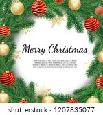 christmas wreath isolated on... | Shutterstock .eps vector #1207835077