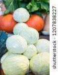 harvest on market   fresh... | Shutterstock . vector #1207838227