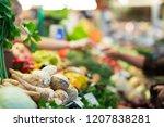 harvest on market   fresh... | Shutterstock . vector #1207838281