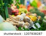 harvest on market   fresh... | Shutterstock . vector #1207838287
