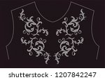 rhinestone applique for t shirt ... | Shutterstock .eps vector #1207842247