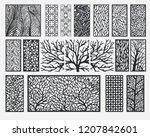 decorative wall panels set | Shutterstock .eps vector #1207842601