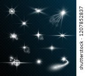 a set of bright beautiful stars.... | Shutterstock .eps vector #1207852837