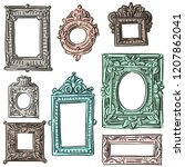 set illustration with antique... | Shutterstock .eps vector #1207862041