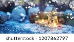 christmas candles  christmas... | Shutterstock . vector #1207862797