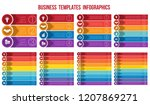 templates infographics from... | Shutterstock .eps vector #1207869271