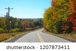 empty concrete route running... | Shutterstock . vector #1207873411