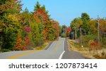 scenic asphalt road running up... | Shutterstock . vector #1207873414