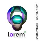 logo  abstract vector geometric ...   Shutterstock .eps vector #1207874224