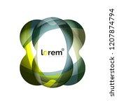 abstract geometric logo design  ...   Shutterstock .eps vector #1207874794