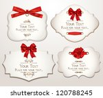 set of elegant cards with red... | Shutterstock .eps vector #120788245