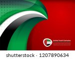 national flag color of united... | Shutterstock .eps vector #1207890634