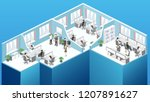 isometric flat 3d abstract... | Shutterstock .eps vector #1207891627