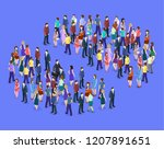 isometric flat 3d isolated... | Shutterstock .eps vector #1207891651