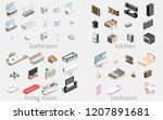 furniture for an apartment....   Shutterstock .eps vector #1207891681