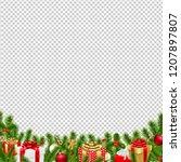 christmas border transparent... | Shutterstock .eps vector #1207897807