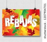 rebajas  sale  autumn banner... | Shutterstock . vector #1207904701