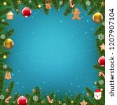 xmas holliday poster with... | Shutterstock .eps vector #1207907104
