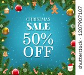 xmas sale poster with gradient... | Shutterstock .eps vector #1207907107