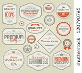 set of vintage premium quality... | Shutterstock .eps vector #120790765